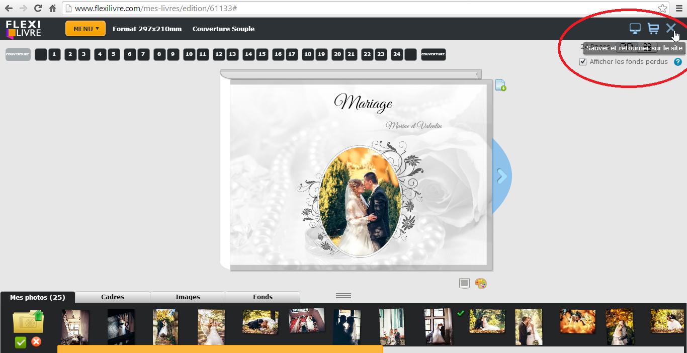 creer album photo mariage. Black Bedroom Furniture Sets. Home Design Ideas